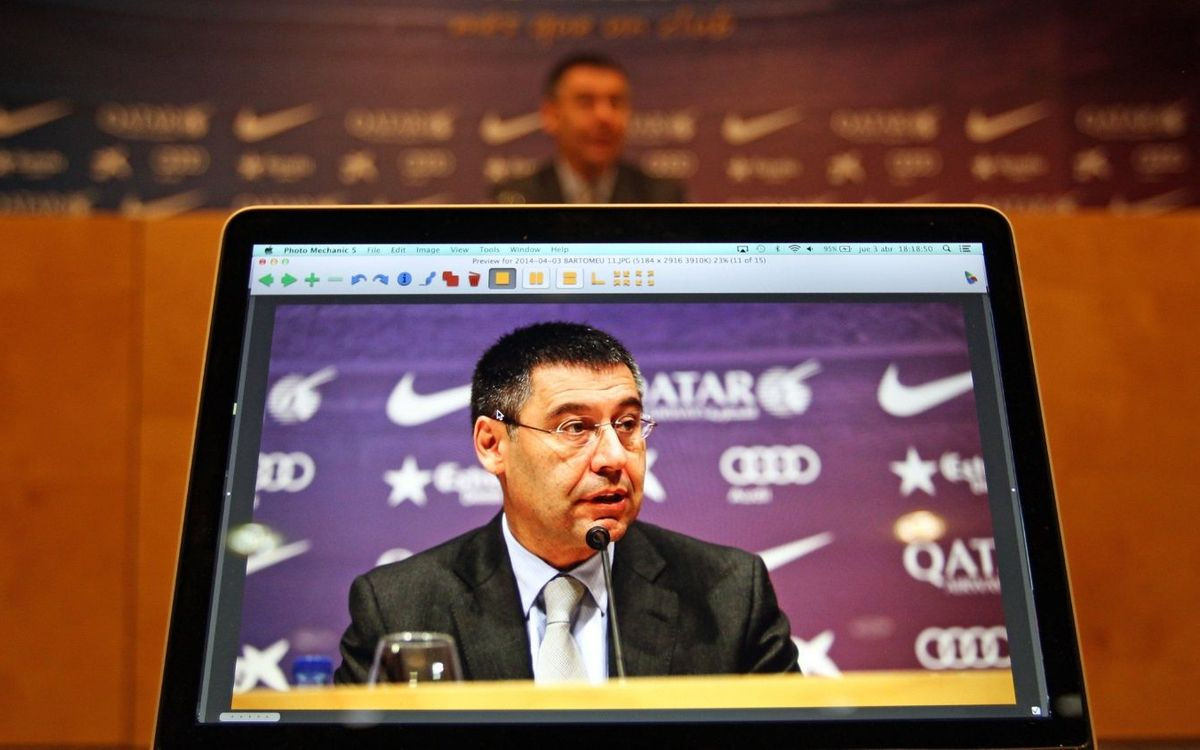 Josep Maria Bartomeu press conference