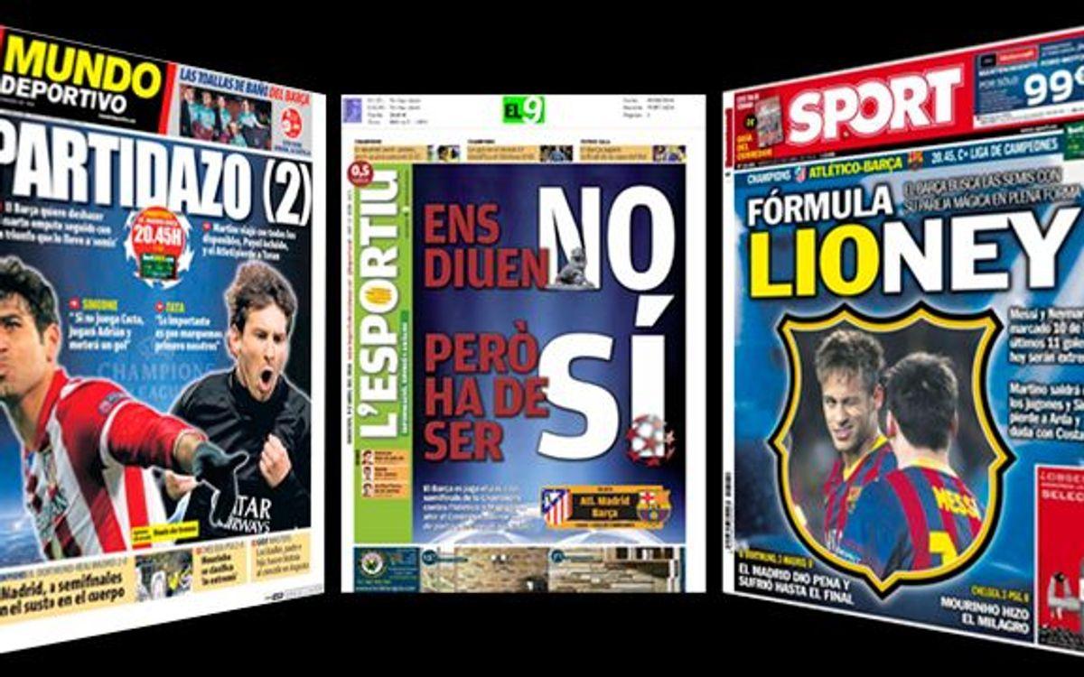 Catalan press on tonight's game
