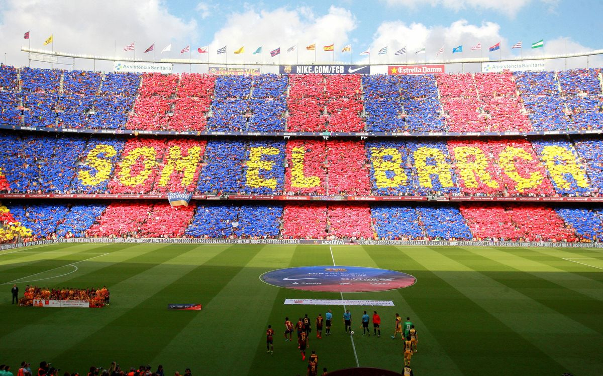 Awesome mosaic and 'Cant del Barça' at Camp Nou