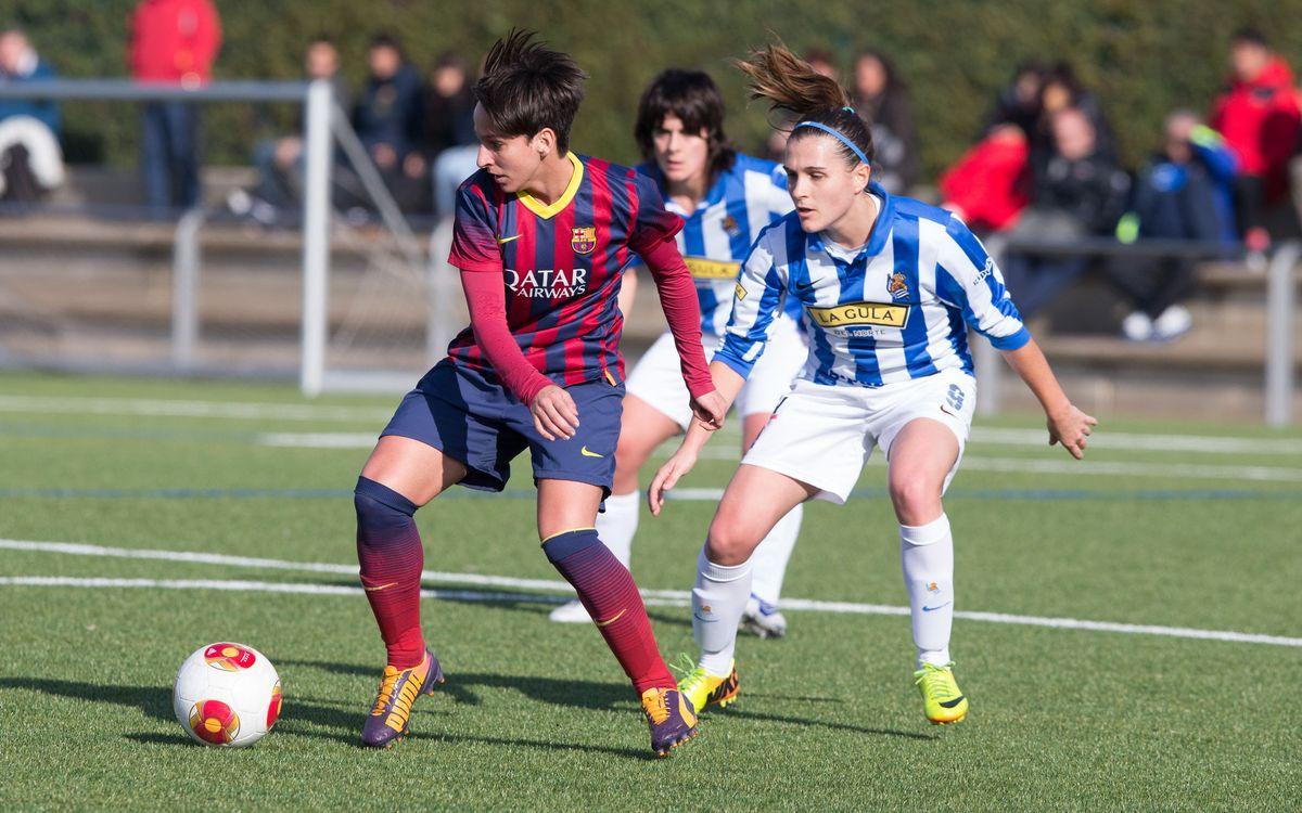 Femenino A-Real Sociedad en cuartos de final de la Copa de la Reina