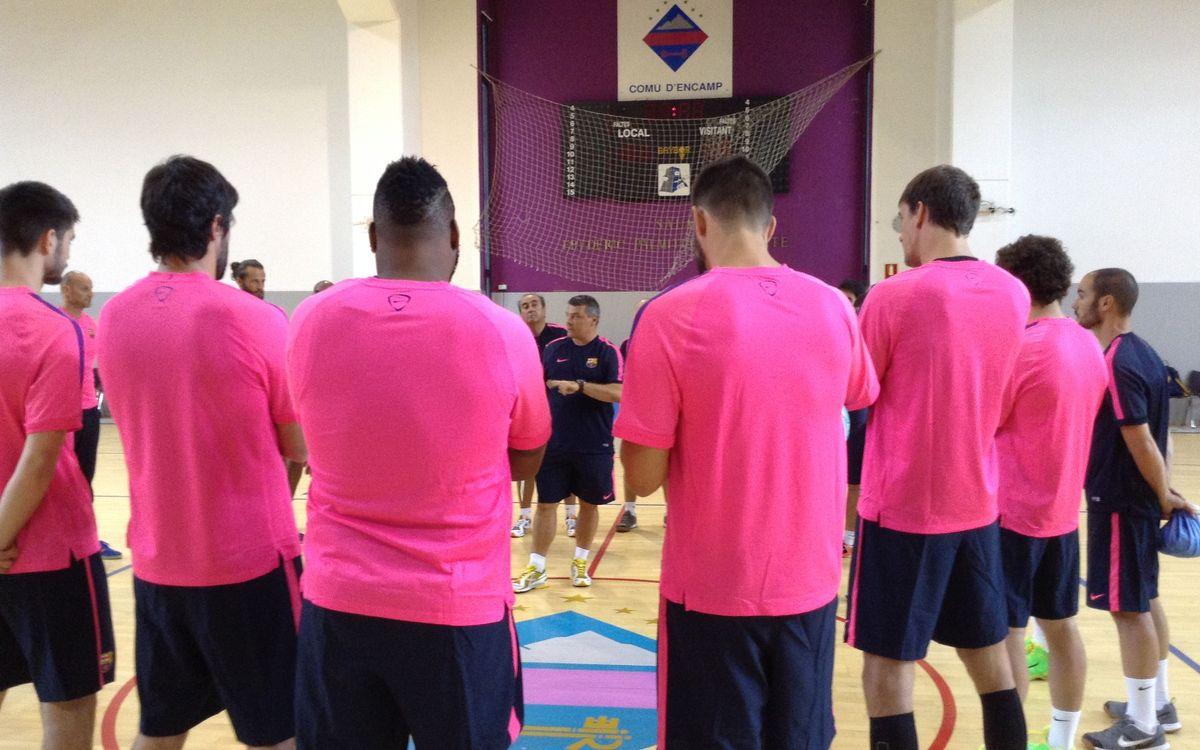 El Barça de balonmano ya se entrena en Encamp