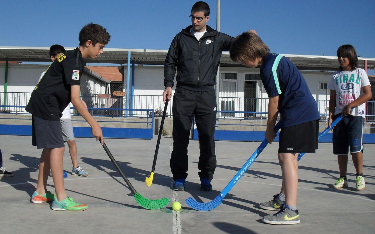 Marc Gual potencia l'hoquei patins a l'Escola Circell de Moja