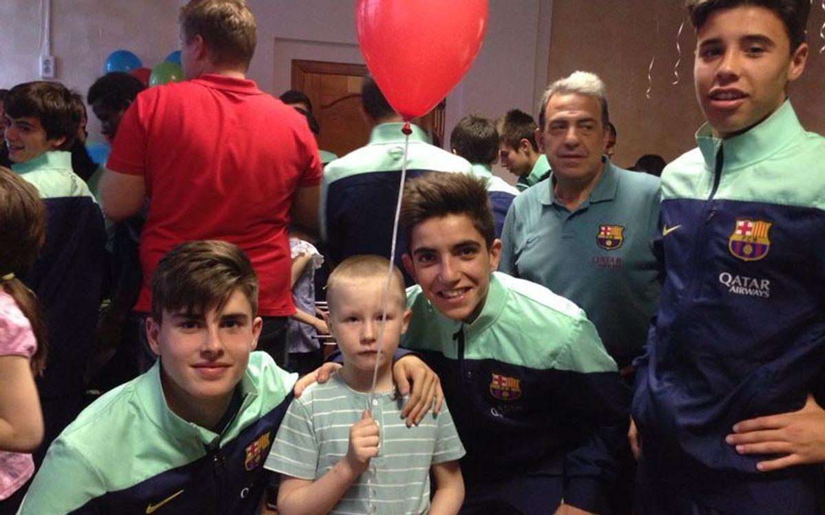 El Cadete B visita un orfanato en Kazan