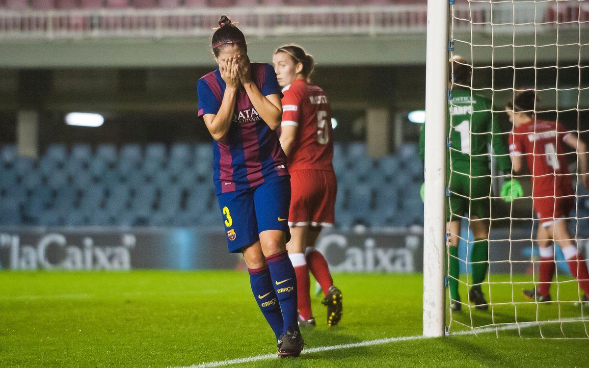 Barça superior; fall to Bristol Academy 1-0