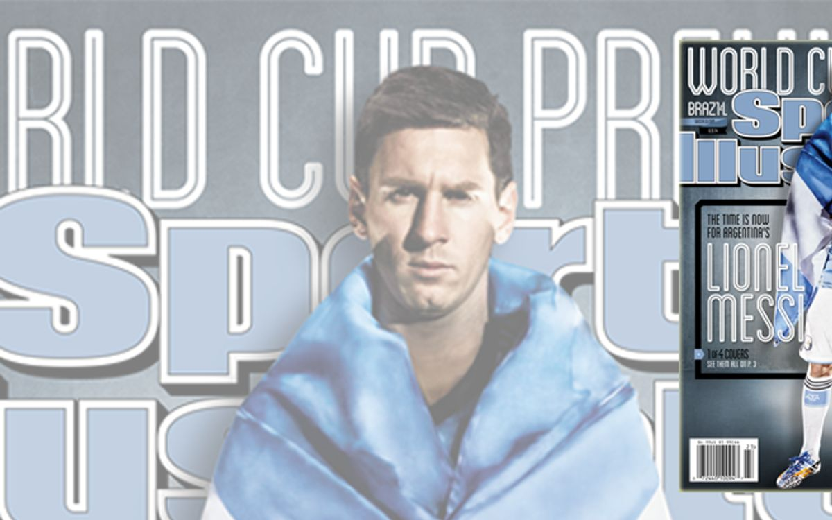 Leo Messi features on the cover of Sports Illustrated