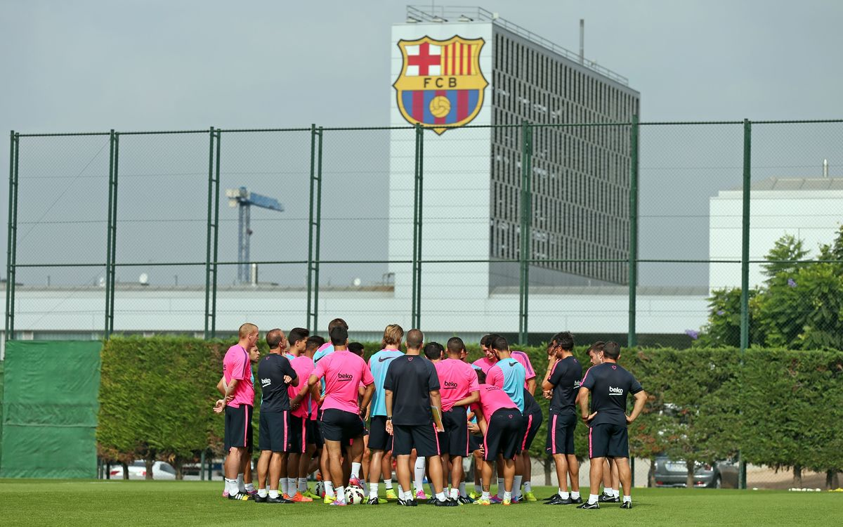 First pre-Champions League training session
