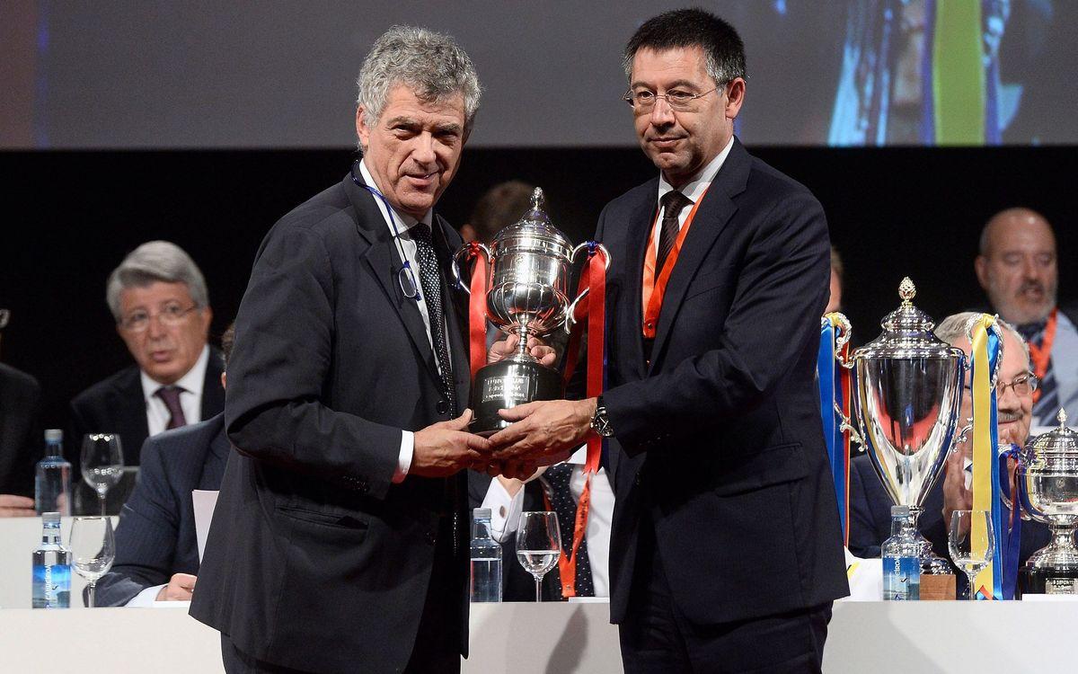 El Barça gana el premio al Juego Limpio por cuarta temporada consecutiva