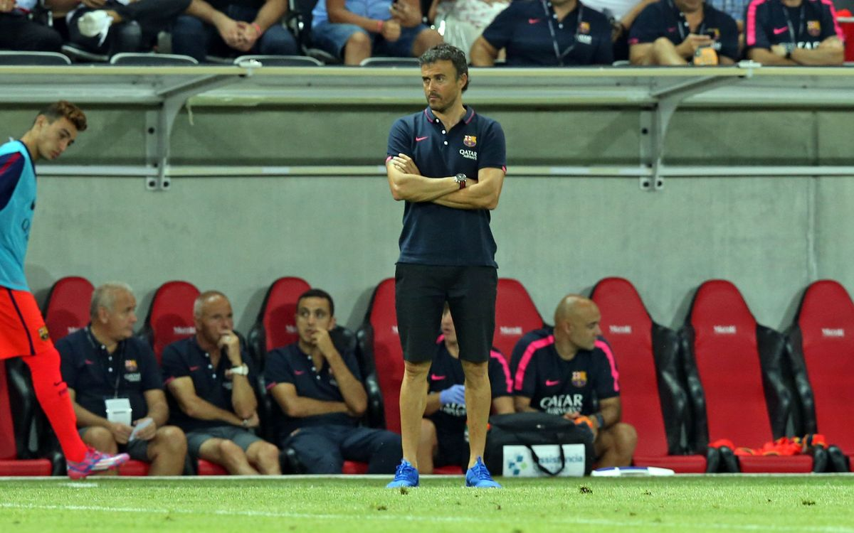 "Luis Enrique: ""The game will tell us where each player is"""