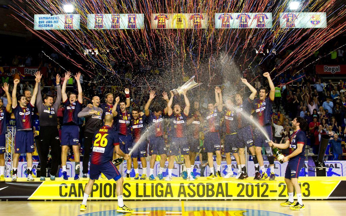 Los recuerdos de los últimos títulos de Liga del Barça de balonmano