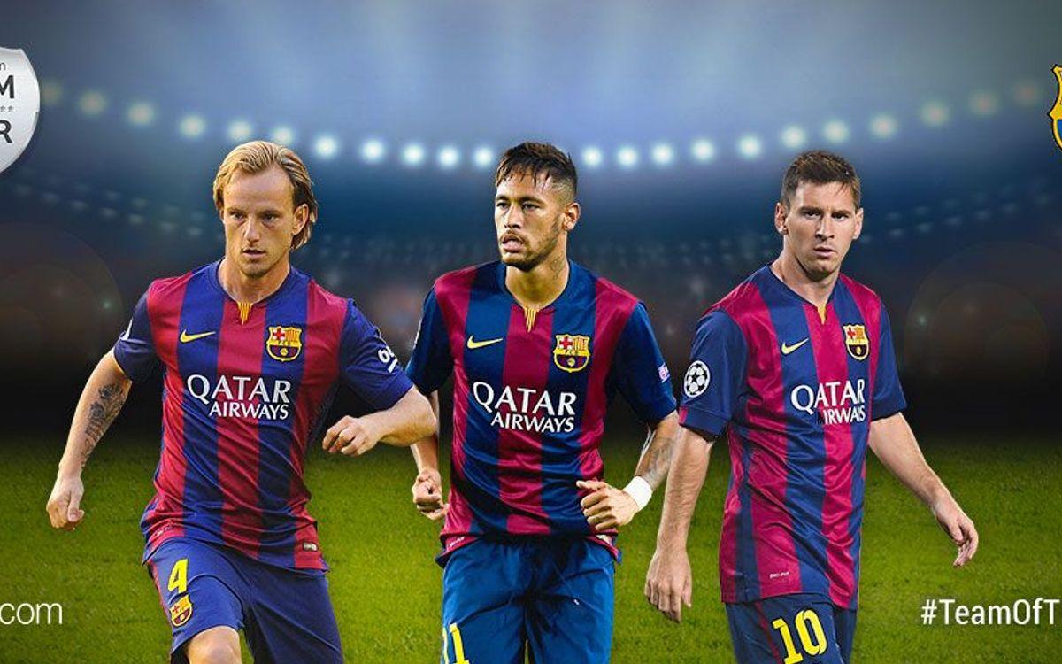 Messi, Neymar and Rakitic nominated for UEFA.com XI