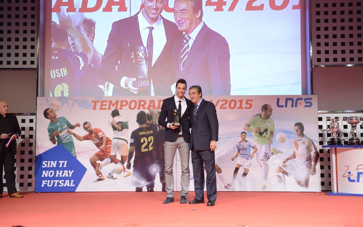 Paco Sedano ha recollit el trofeu al millor porter de la temporada 2013/14