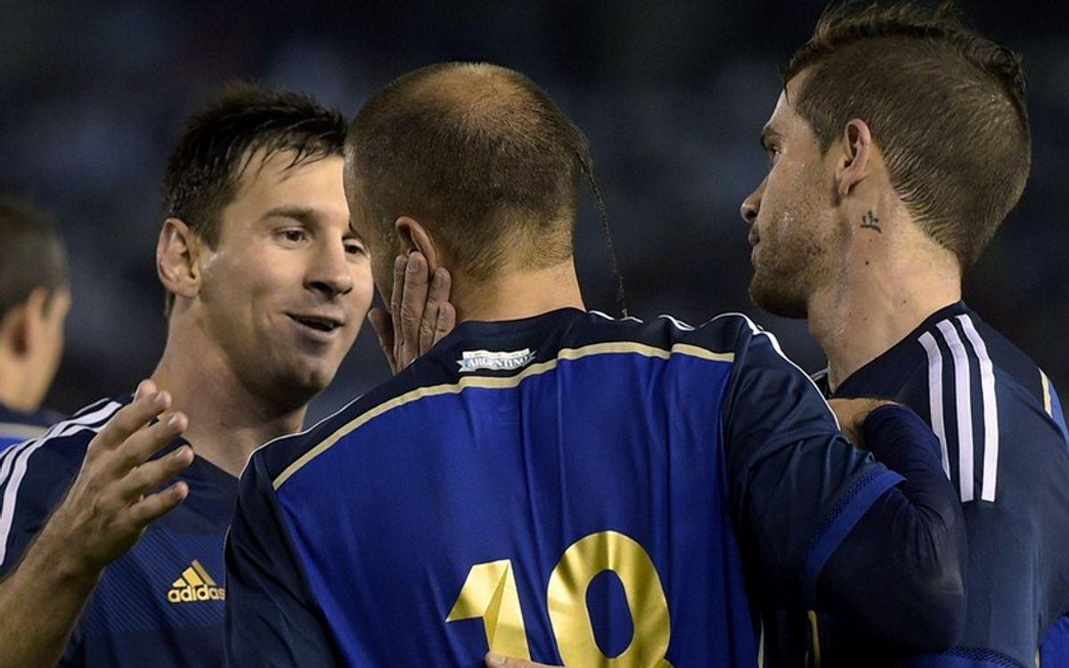 アルゼンチンとチリが親善試合に勝利