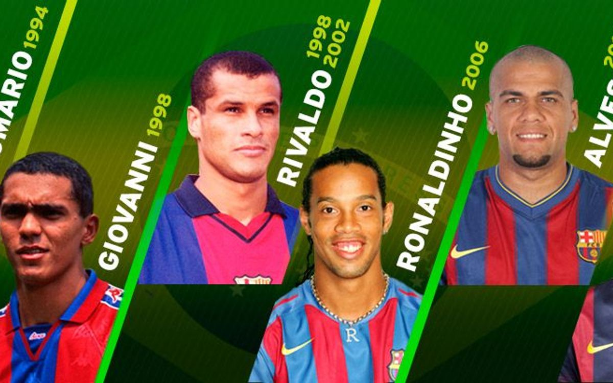 FC Barcelona's World Cup Brazilians