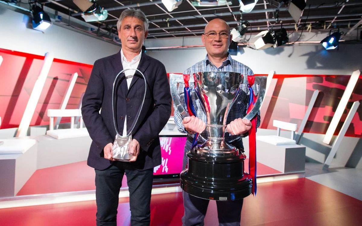 Xavi Llorens i Jordi Vinyals llueixen els títols guanyats a l''ADN Barça'