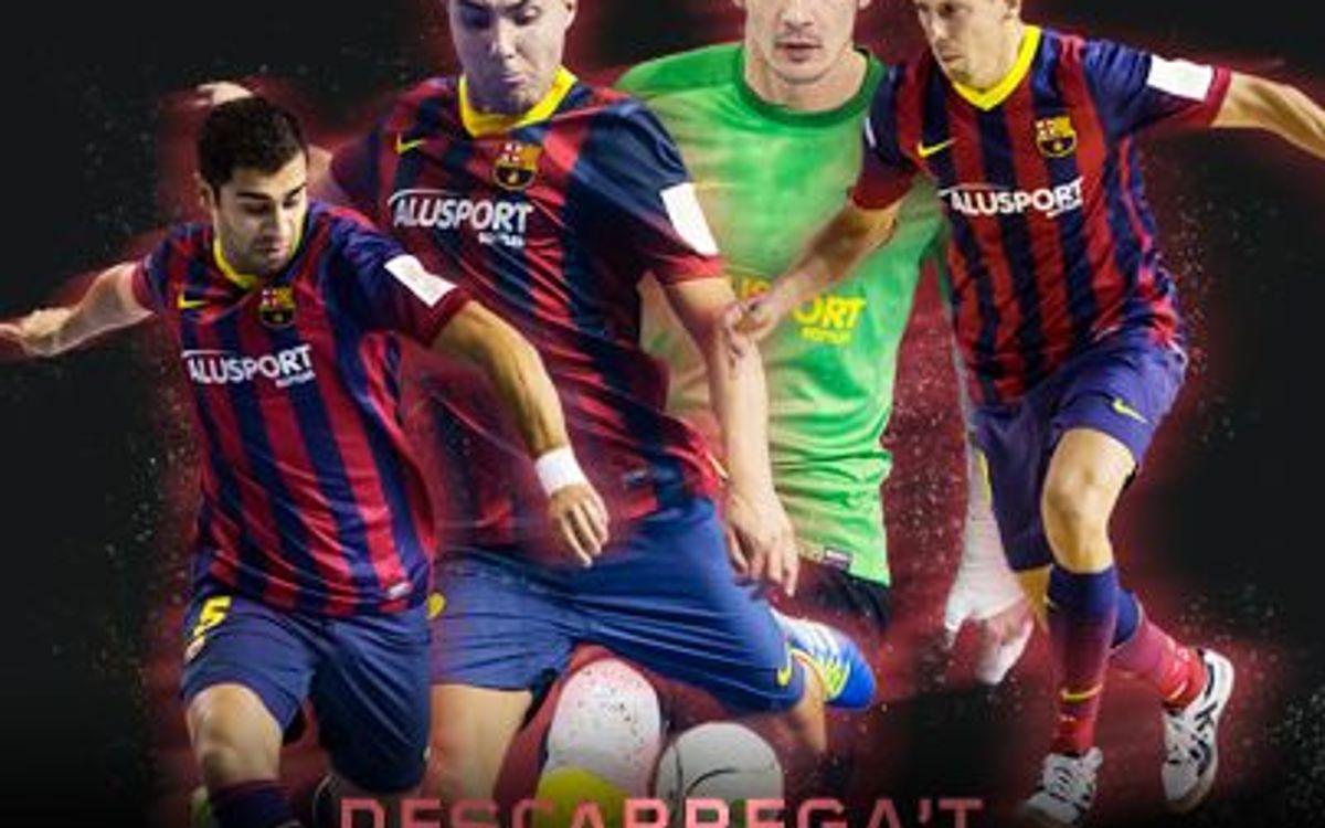 Els jugadors del Barça Alusport ja tenen els seus fons de pantalla
