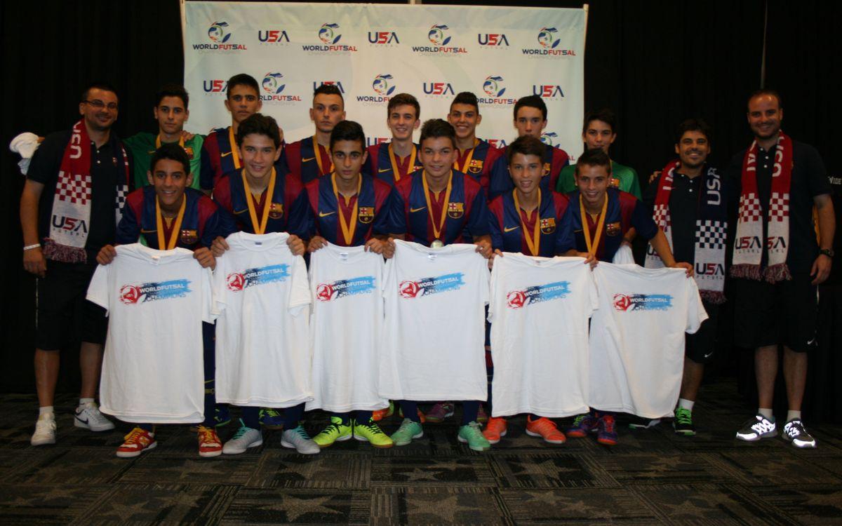 El Cadet del Barça es proclama campió del World Futsal Championship