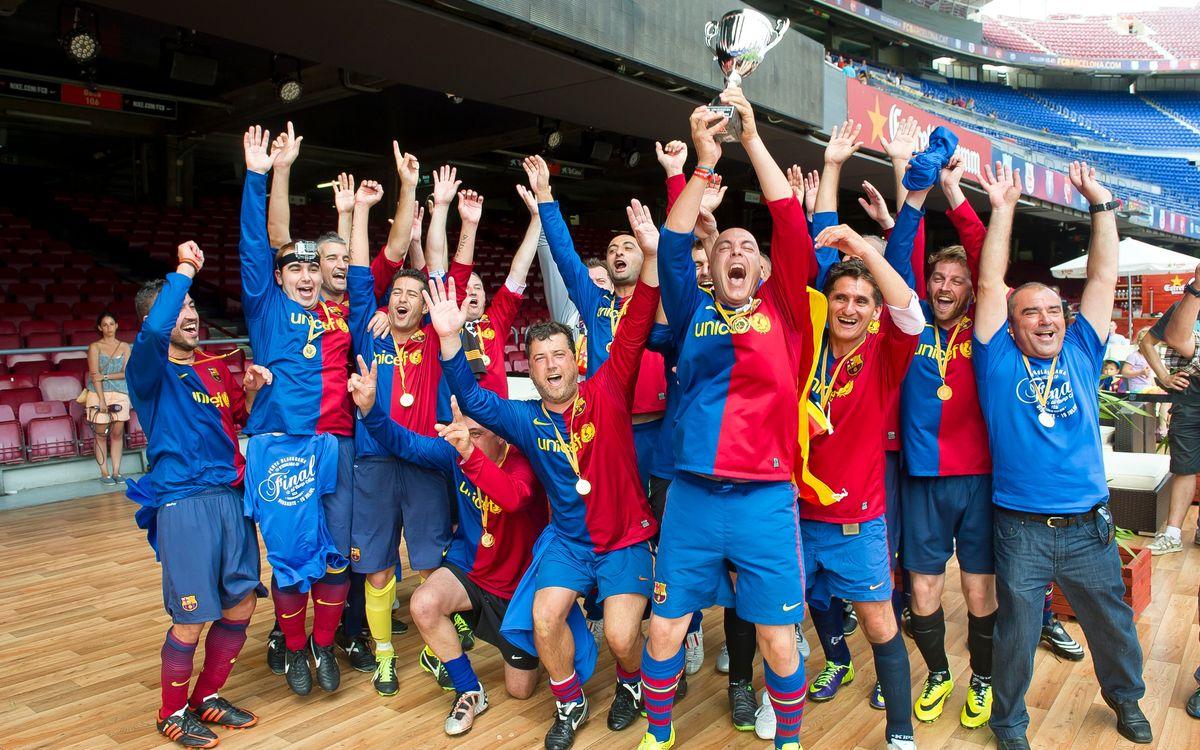 El Camp Nou acull les finals de la Lliga de Socis 2014