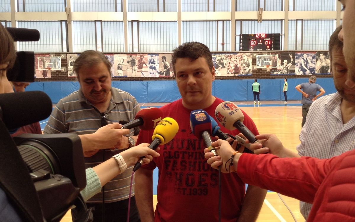 """Xavi Pascual: """"Volem guanyar un partit que ens dóna la Lliga"""""""