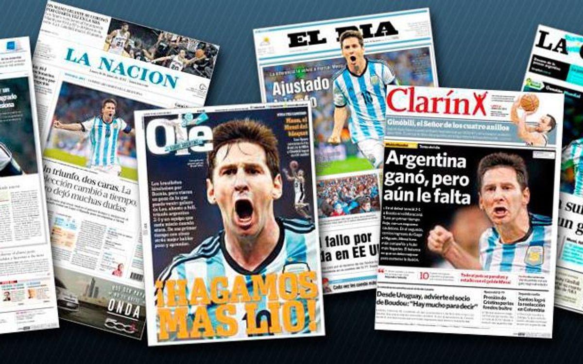Argentinian press wild about Messi