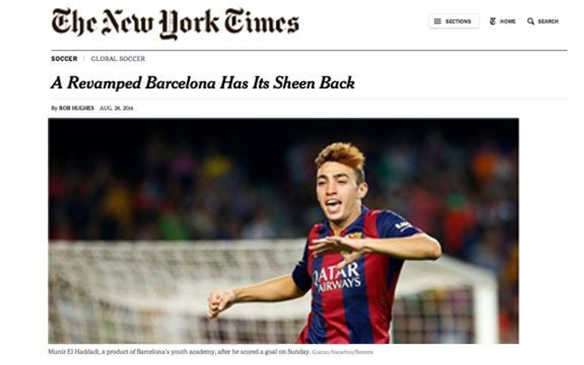 El estreno del nuevo Barça, en el 'New York Times'