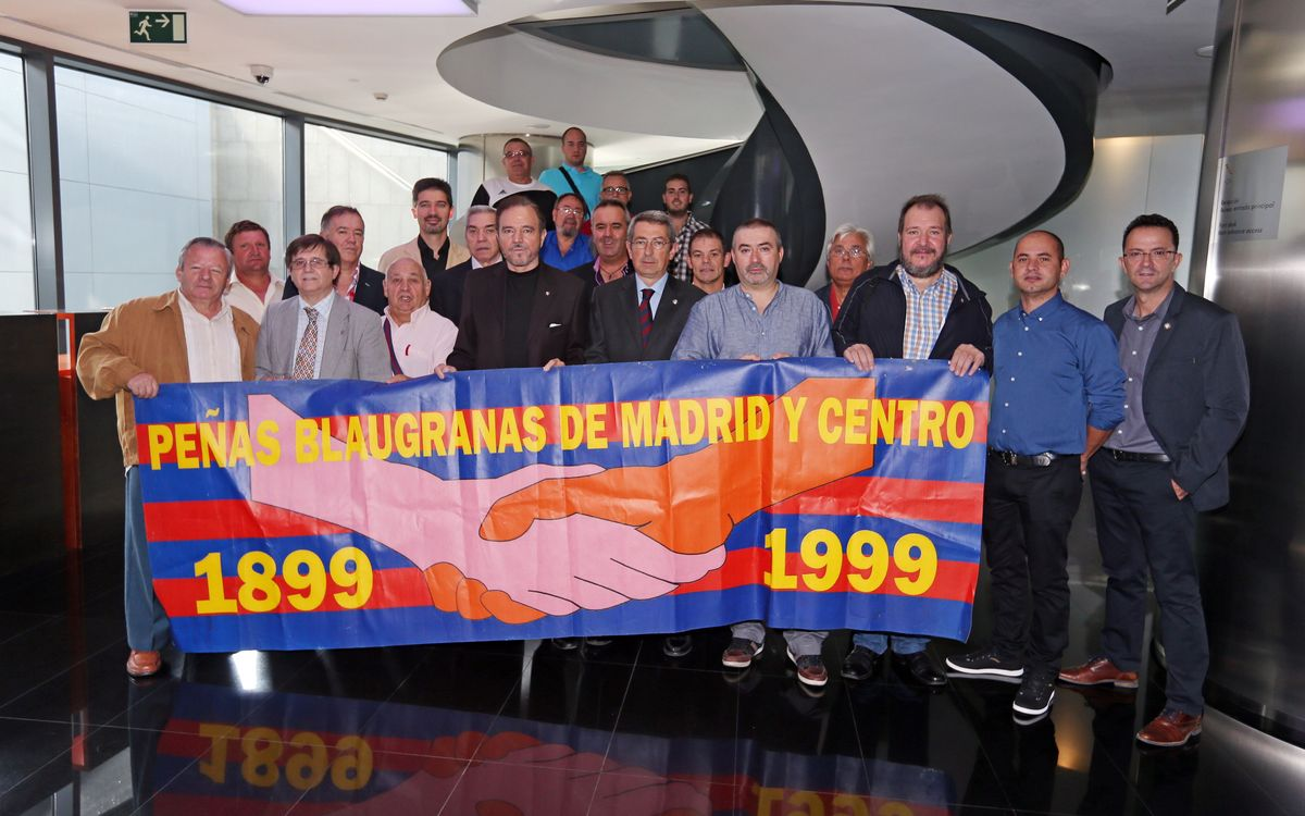 Reception for Madrid supporters clubs