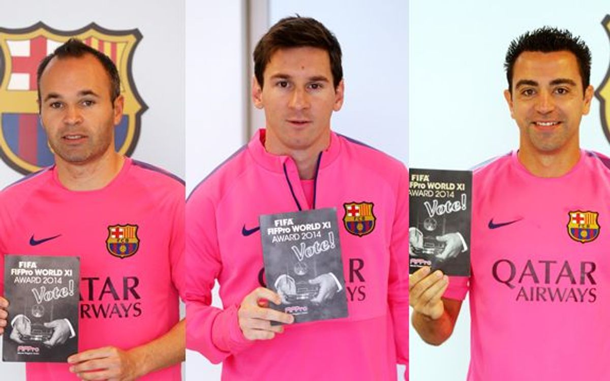 Barça players vote for Fifa Fifpro 2014
