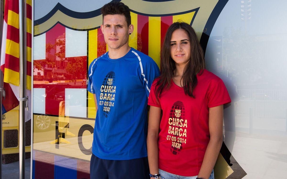 Las camisetas de la Cursa Barça