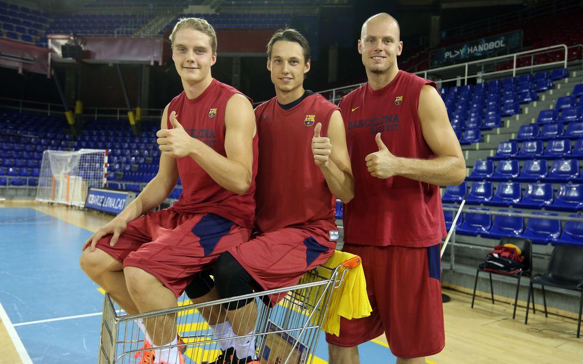 La primera plantilla del Barça de bàsquet compta amb tres jugadors criats a Suècia