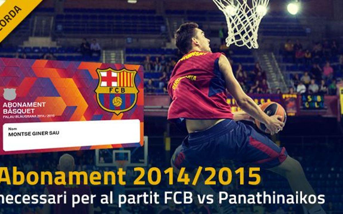 Només abonament 2014/15 contra el Panathinaikos