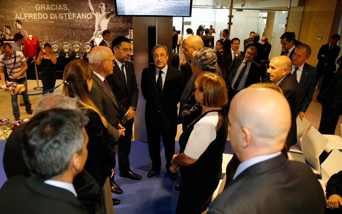 Josep Maria Bartomeu attends Alfredo Di Stéfano's memorail
