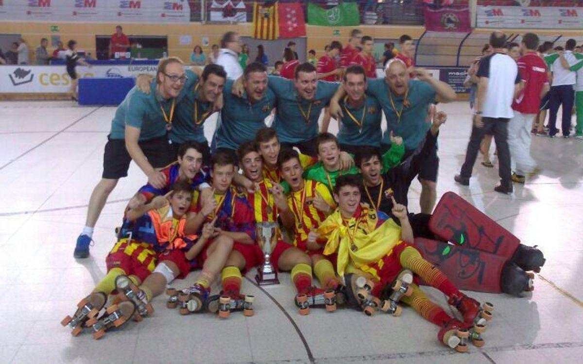 L'equip infantil del Barça, campió d'Espanya