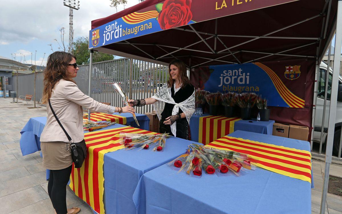 El Sant Jordi también se vive en el Camp Nou