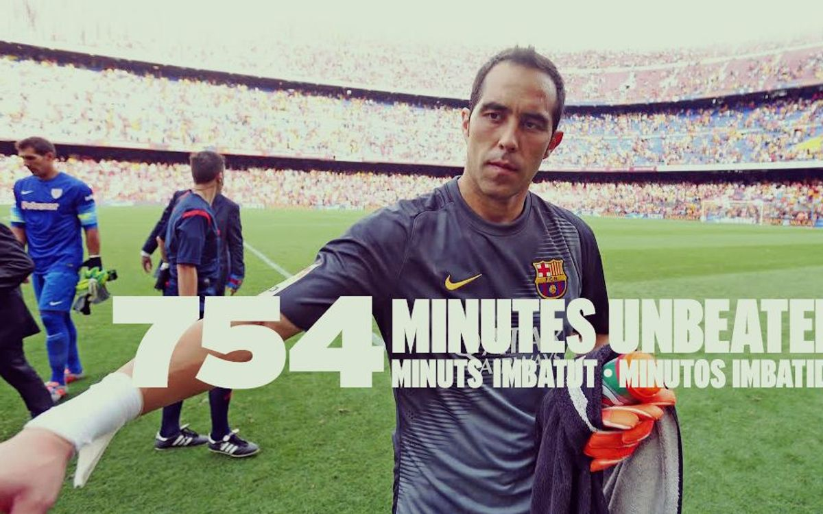 Claudio Bravo leaves record at 754 minutes