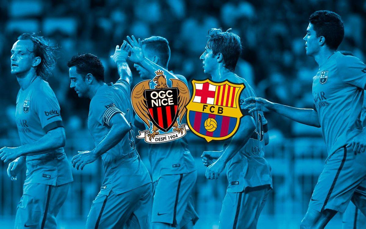 OGC Nice: 1 - FC Barcelona: 1