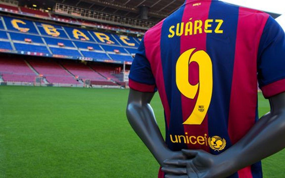 Luis Suárez, FC Barcelona's number 9