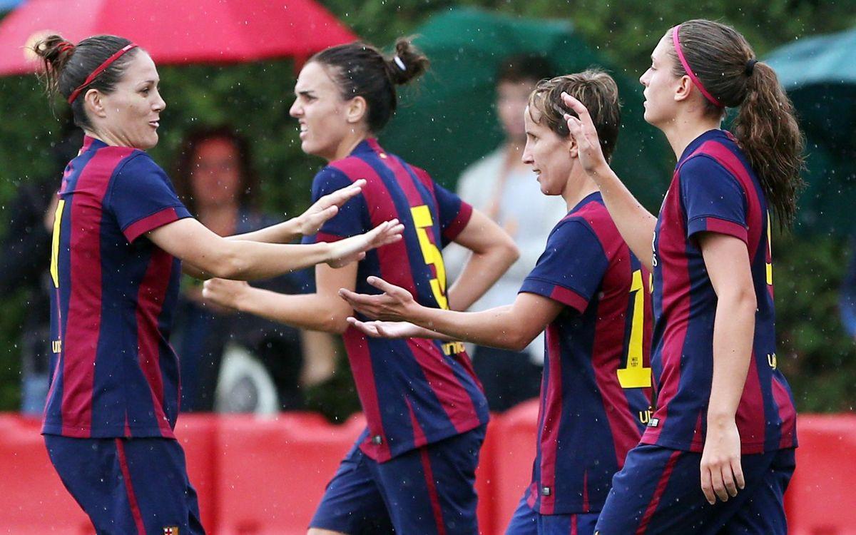 FC Barcelona – Santa Teresa: Pluja de gols per recuperar-se (4-0)