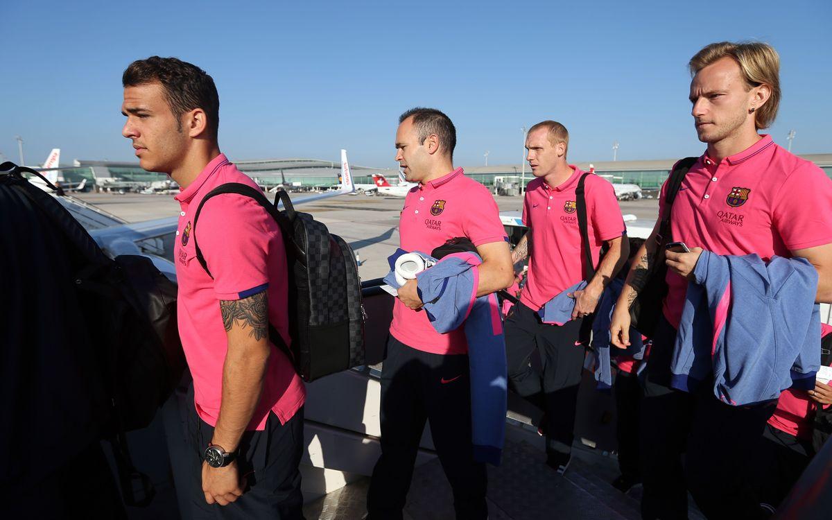 Team arrives in Madrid