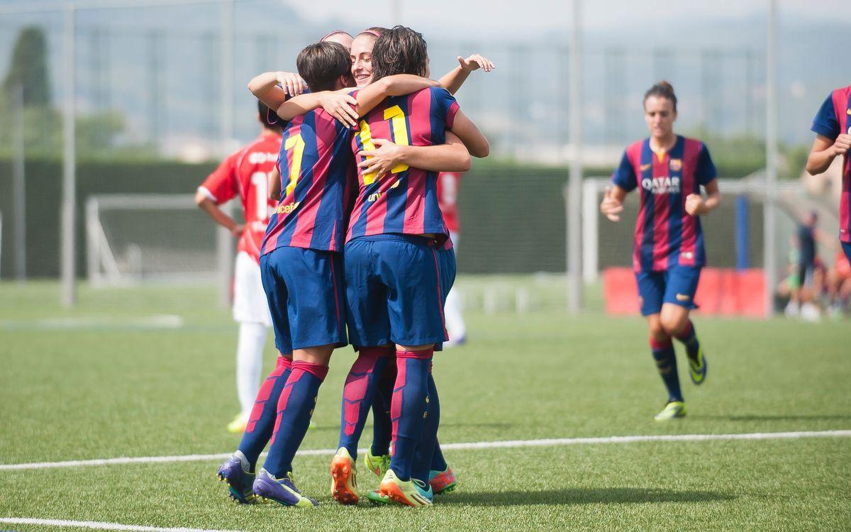 FC Barcelona – Collerense: El Femení A arranca la Lliga amb victòria (2-0)