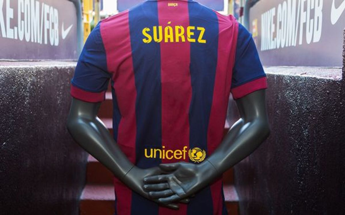 What number will Luis Suárez wear at FC Barcelona?