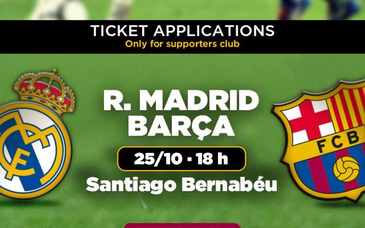 Clásico tickets from October 7