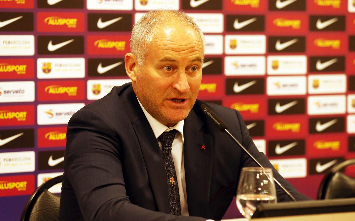 El entrenador del Barça Alusport, Marc Carmona, ve preparado al equipo