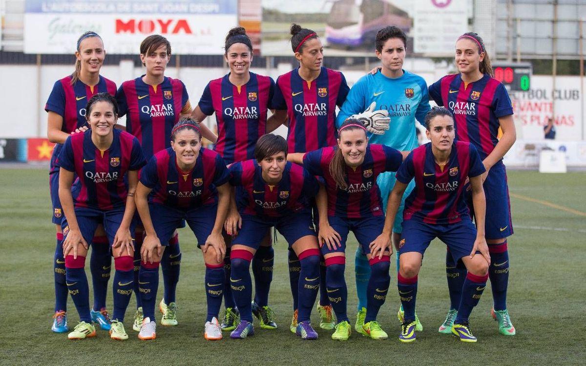En directe, el FC Barcelona - Oviedo Moderno (1a Femenina)