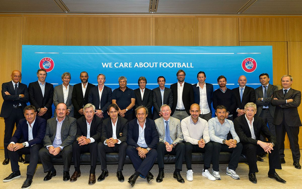 Luis Enrique reviews UEFA Elite Club Coaches Forum