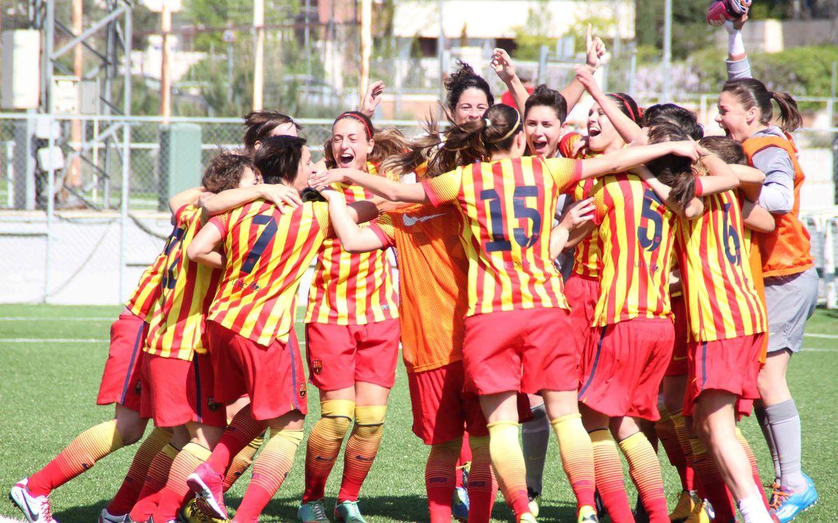 La celebració de les campiones de la Lliga 2013/14