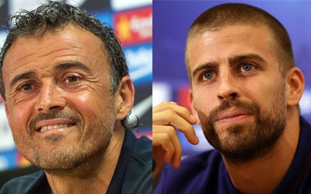 LIVE - Gerard Piqué and Luis Enrique press conference