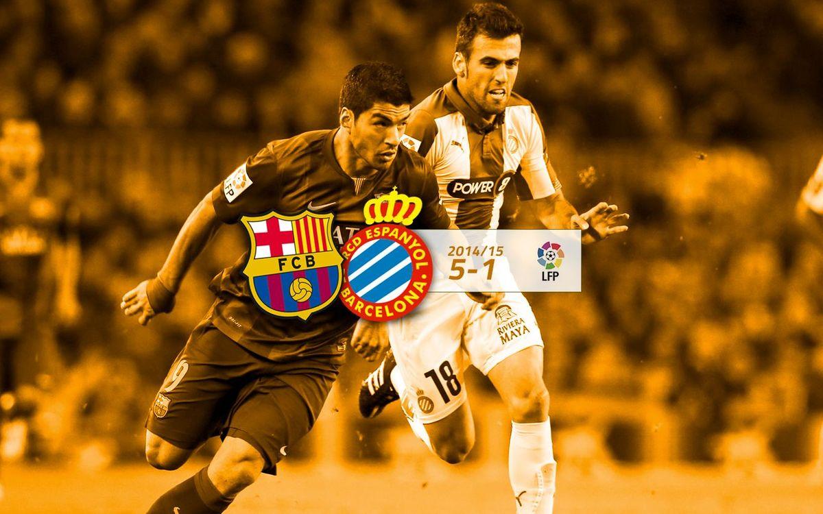 FC Barcelona: 5 - Espanyol: 1