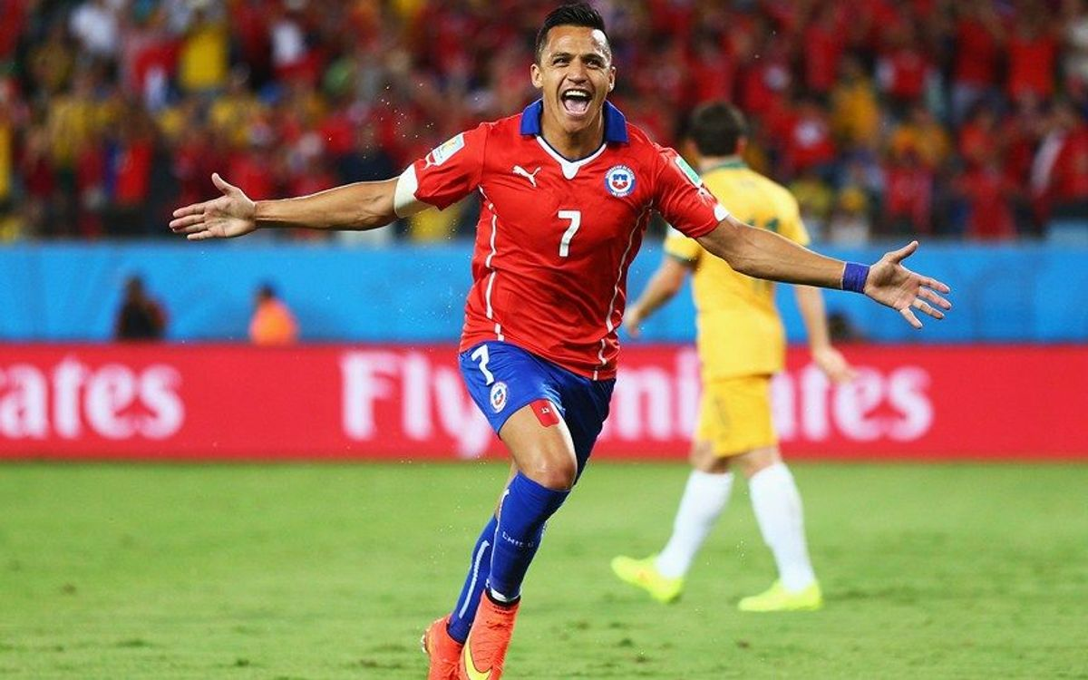 Alexis marca en l'estrena de Xile al Mundial (3-1)