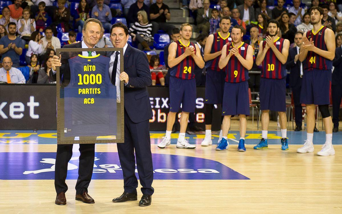 El Barça homenatja Aíto pels seus 1000 partits a la Lliga Endesa