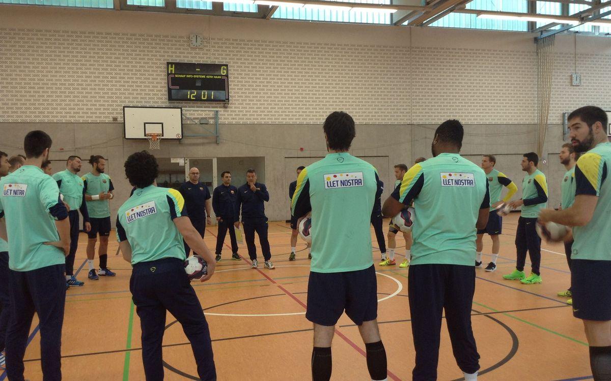 Un día en Colonia con el Barça de balonmano