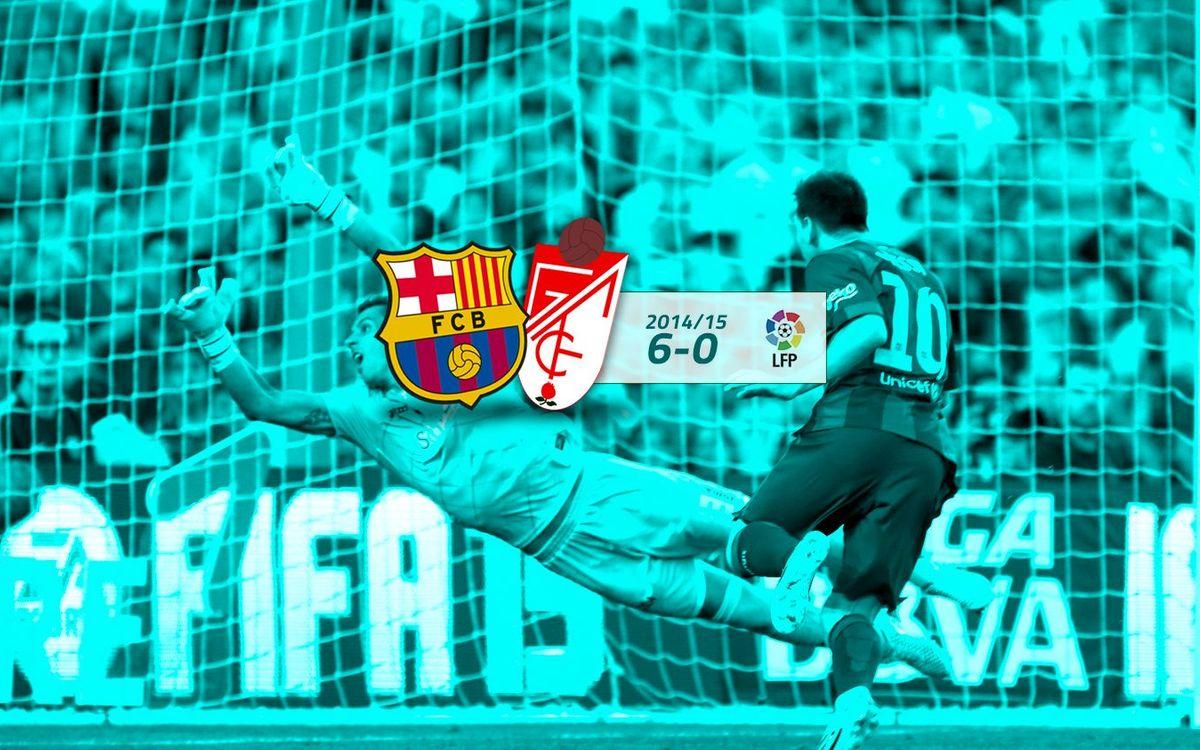 FC Barcelona: 6 - Granada: 0